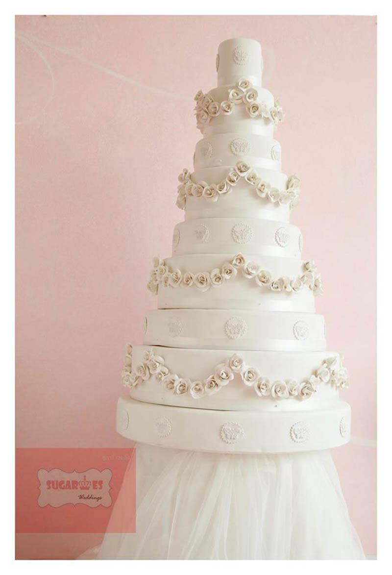 Mockup wedding cake