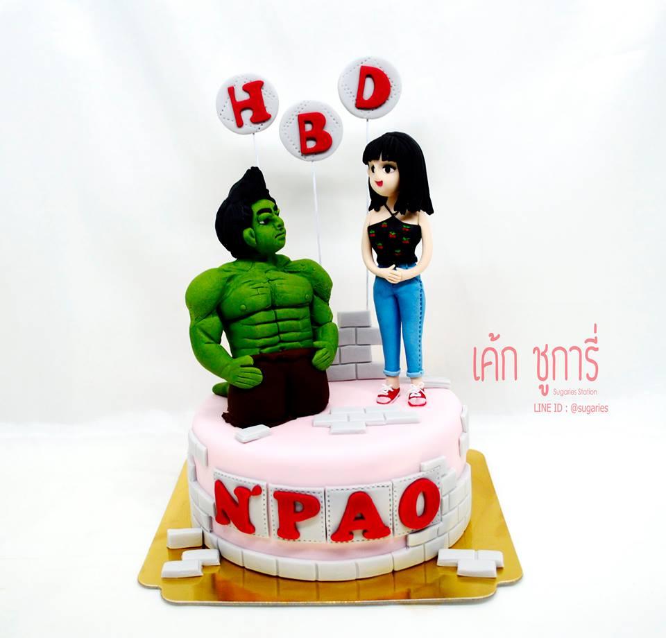 เค้กซุปเปอร์ฮีโร่-Hulk-01