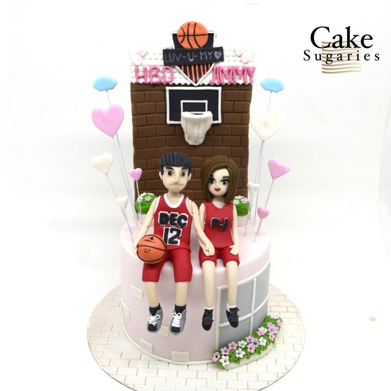 Basketball cake 06