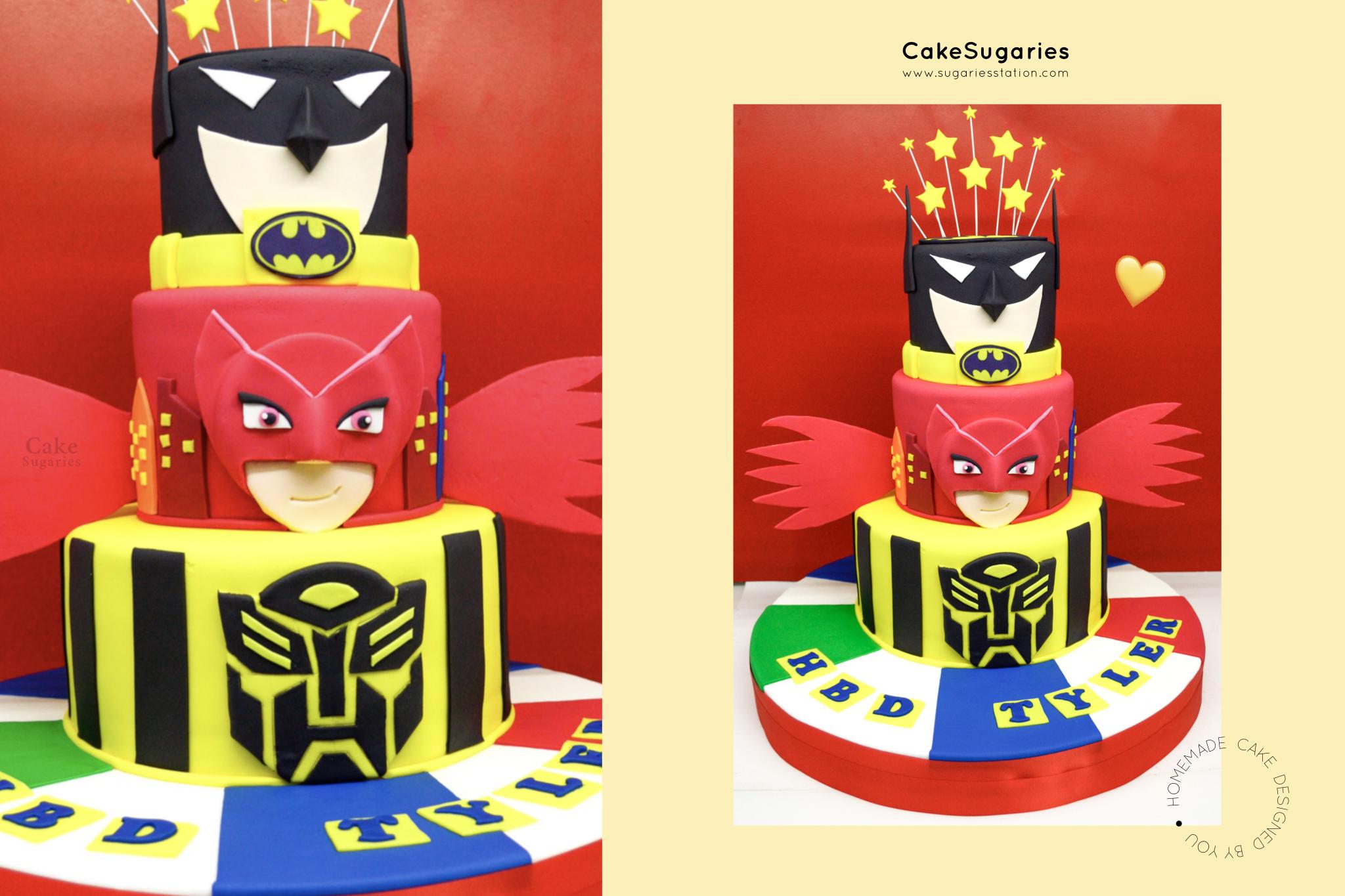 เค้กฮีโร่ เค้กวันเกิดของ Tyler